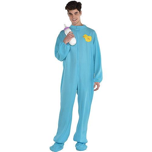 Adult Blue Footie Pajamas Costume