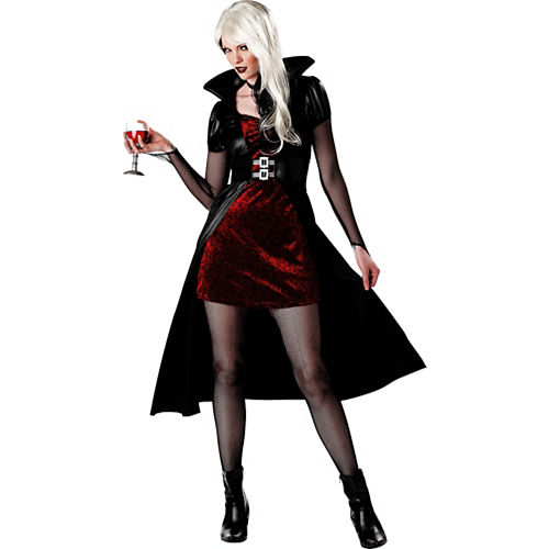 Vampire costumes for kids adults vampire costume ideas party city adult blood thirsty beauty vampire costume solutioingenieria Choice Image