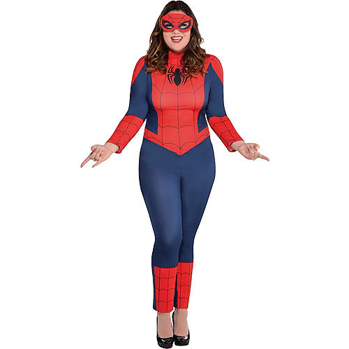 Adult Sexy Spider-Girl Catsuit Costume Plus Size