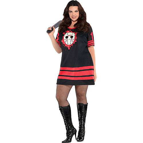 Adult Miss Voorhees Costume Plus Size - Friday the 13th