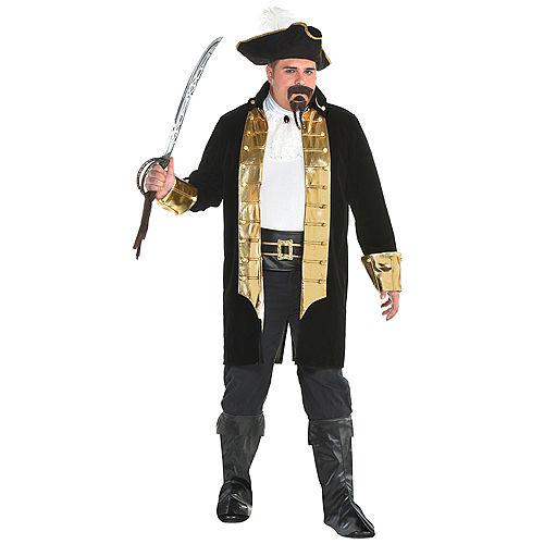 Mens Treasure Captain Pirate Costume Plus Size